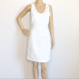 J.Crew Ivory Sleeveless Fit And Flare Dress
